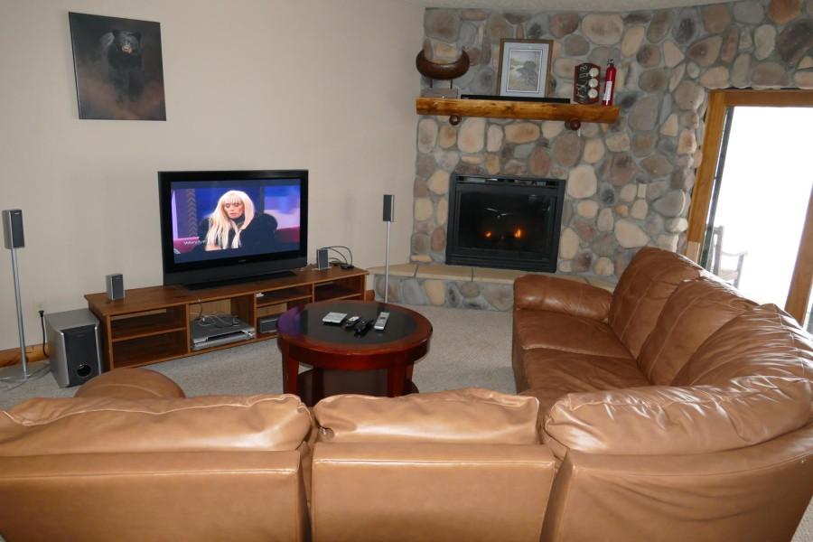 Basement rec room TV area