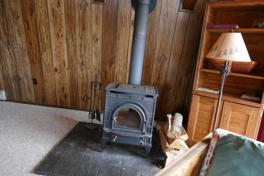 woodstove in Living Room