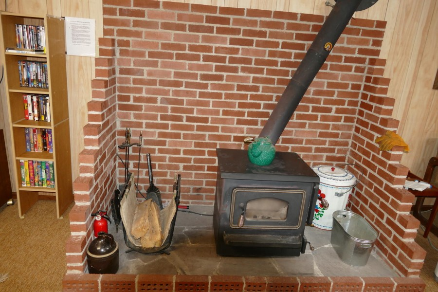 Wood Stove in lower level