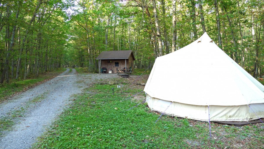 Bell tent and Stanley