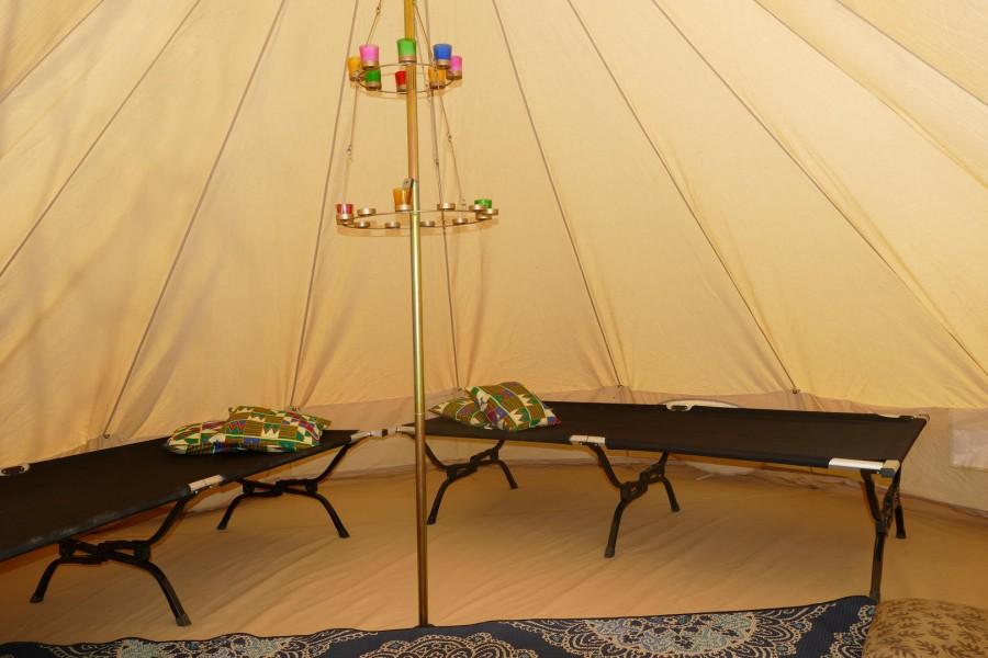 British Bell Tent interior