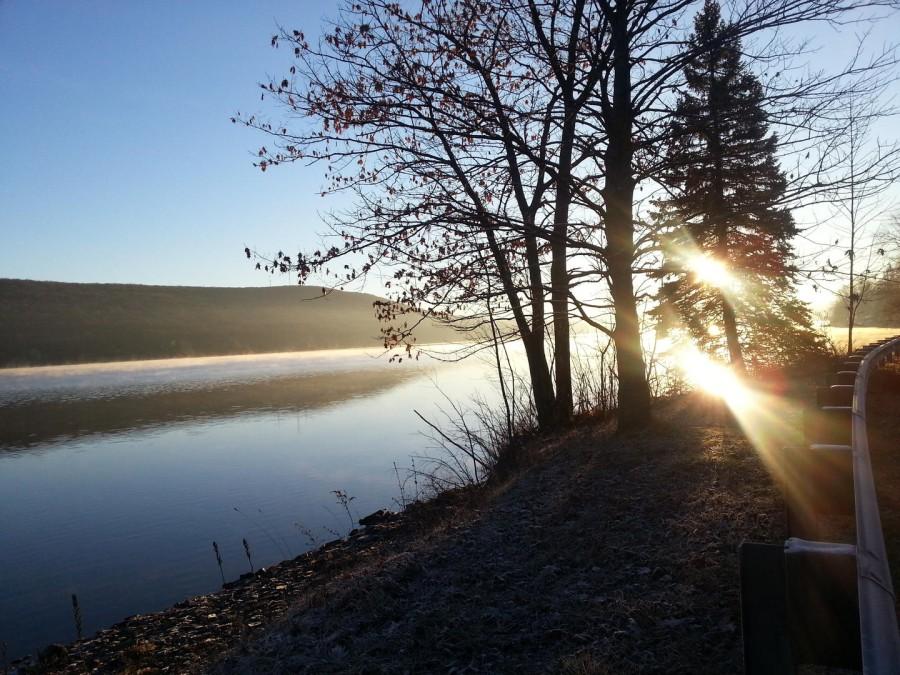 early winter lake - calm