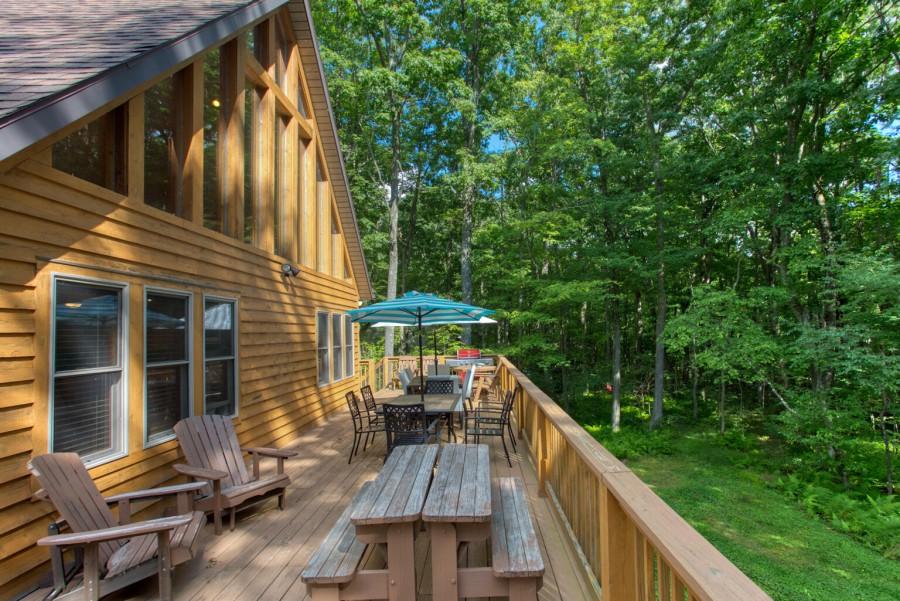 Front deck - summer