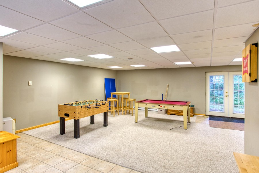 Rec Room lower level-game tables