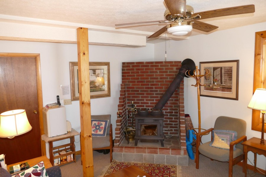 Lower Level Rec Room Wood Stove