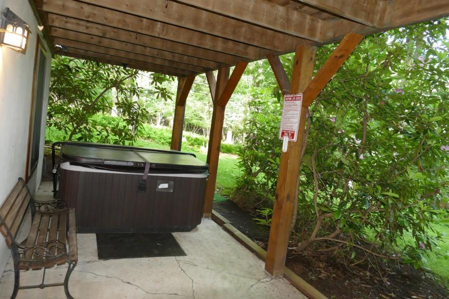 back patio. hot tub