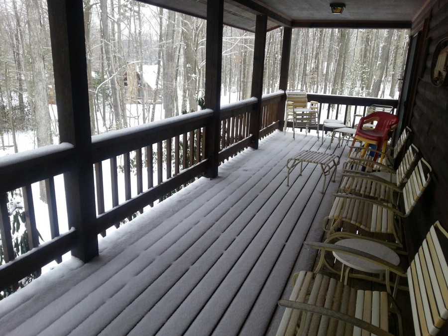 Covered Deck - Winter