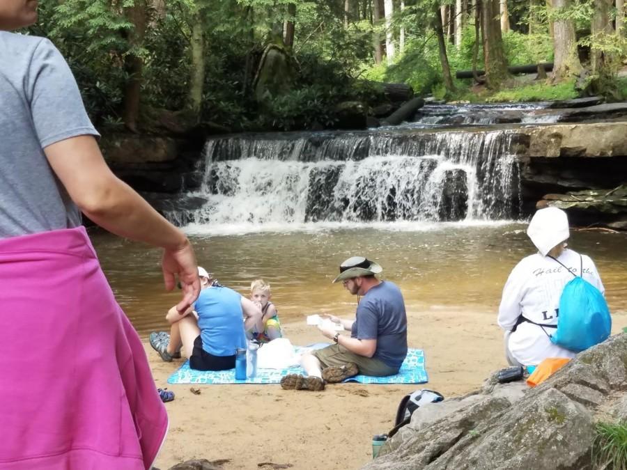 chilling at Tolivar Falls