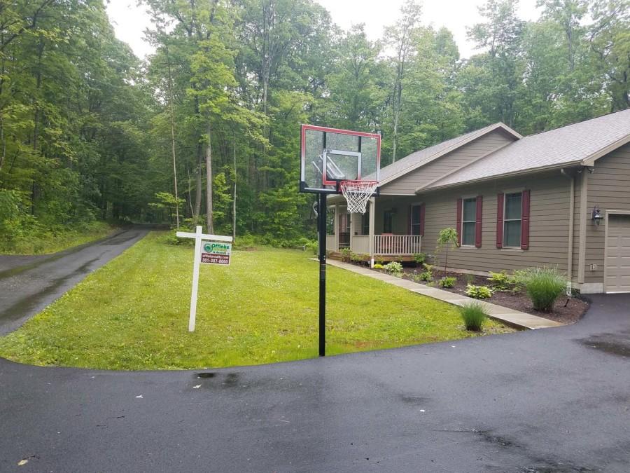 Basketball. paved drive