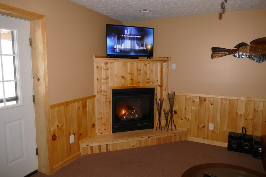 Fireplace rec room 2