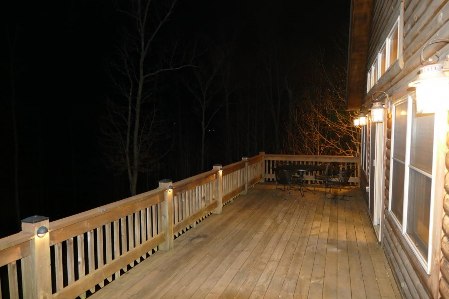 Exterior Front deck Winter night