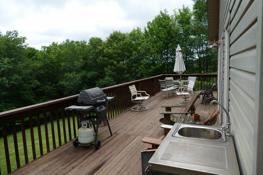 Front Deck Seating and grill