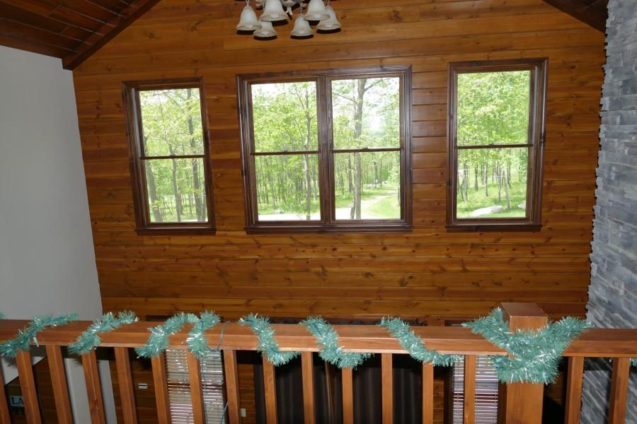 Open loft overlooks great room