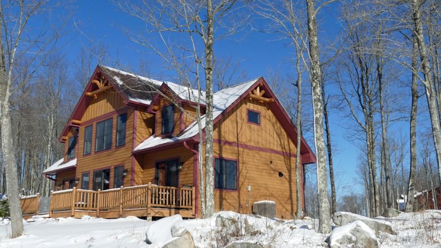Rear of cabin - Winter