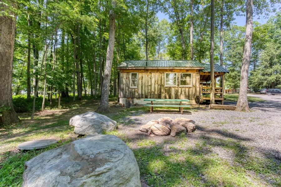 West side of cabin