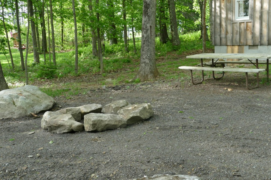 Fire Ring and picnic table
