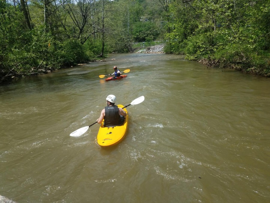 paddling the nearby Yough River