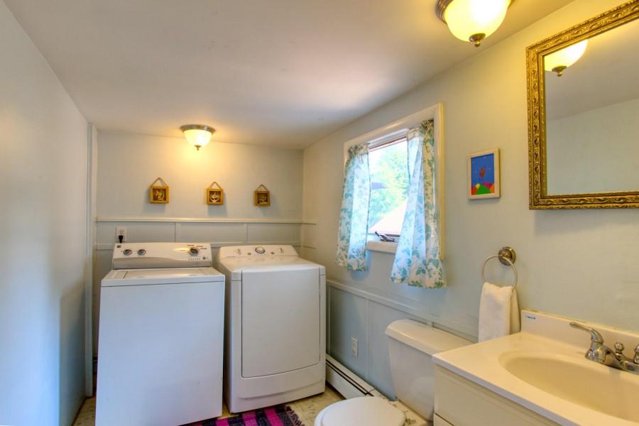 Laundry in powder room - main level