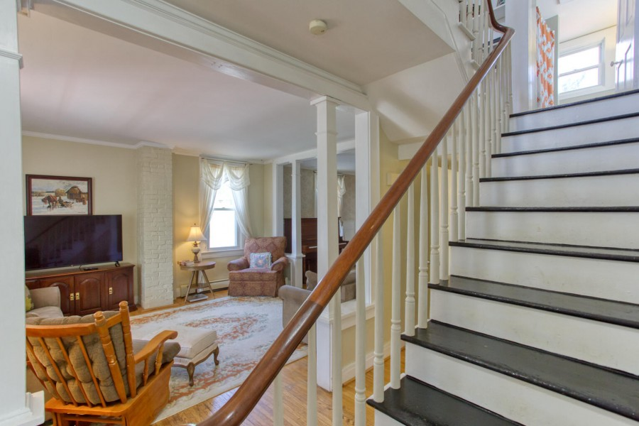steps to living room area