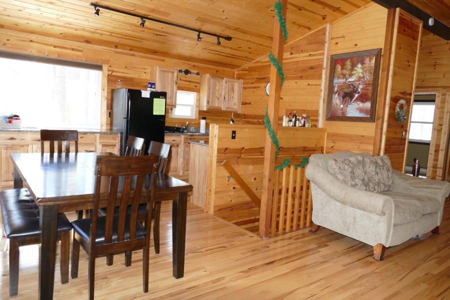 Upper level kitchen/dining living room