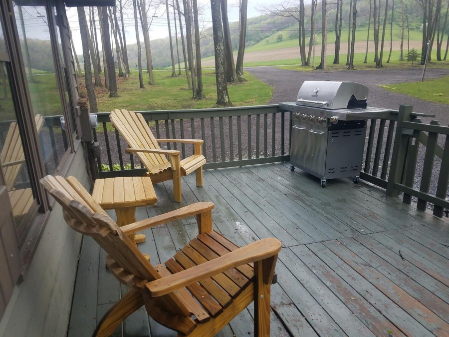 outdoor seating on front deck