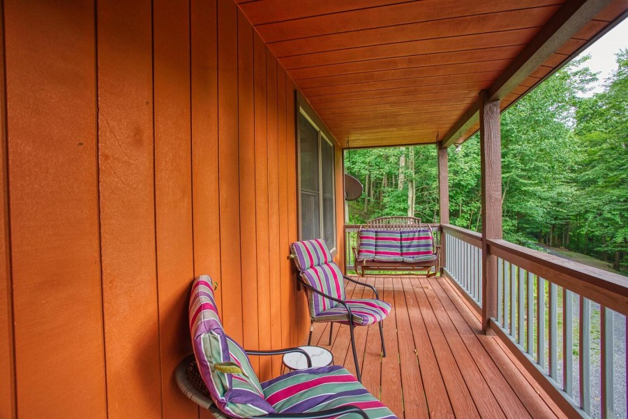 front porch seating. swing