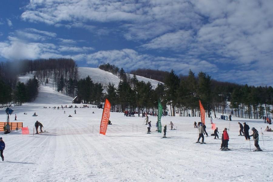 slopes a short walk away